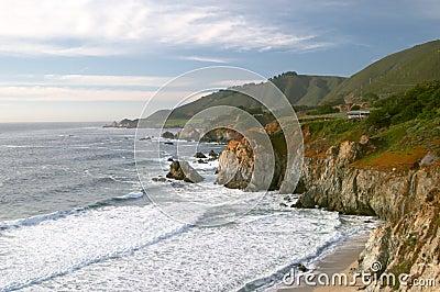 Pacific ocean coast near Big Sur