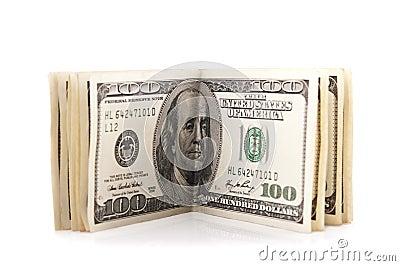 Pack of 100 dollars