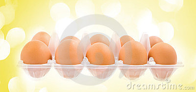 The pack of eggs