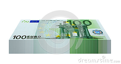 Pack of 100 Euro Banknotes