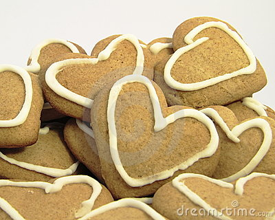 Pack of heart cookies