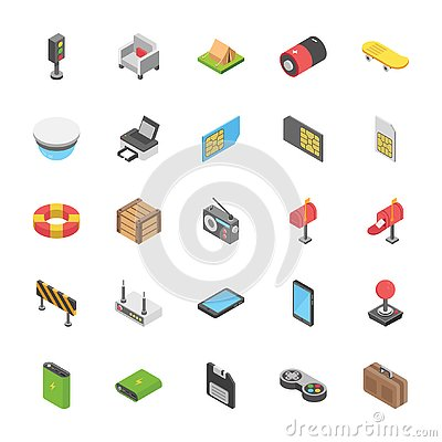 Free Pack Of Objects Icons Royalty Free Stock Photos - 132073978