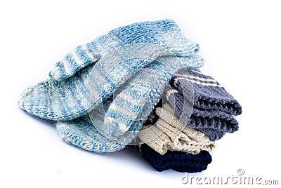 A pack of woollen mitt