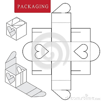 Package for bakery.Vector Illustration of Box. Vector Illustration