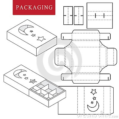 Package for bakery.Isolated White Retail Mock up Vector Illustration