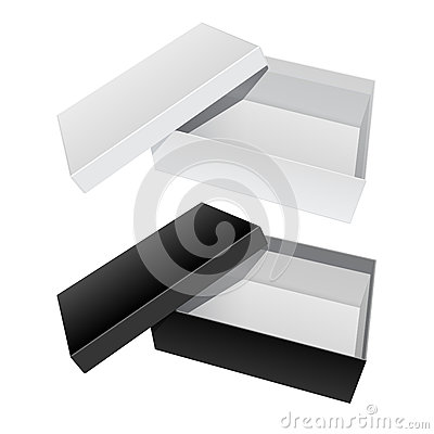 Free Package Box Opened With The Cover Removed. Stock Image - 70769791