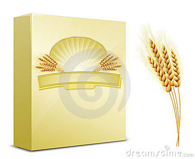 Package design. Wheat flour or Pasta