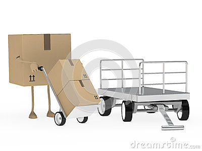 Package figure offload trolley