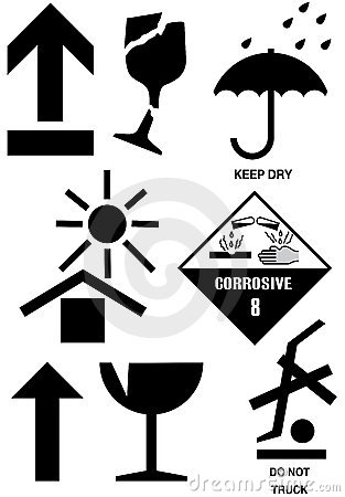 Packaging box symbols