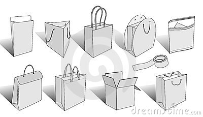 Packaging items 3d