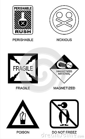 Packaging label symbols