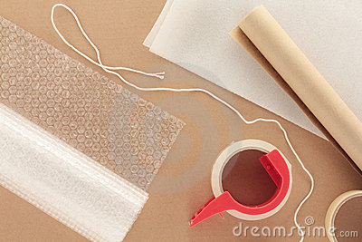 Packaging Materials With String Royalty Free Stock Photos - Image: 20660948