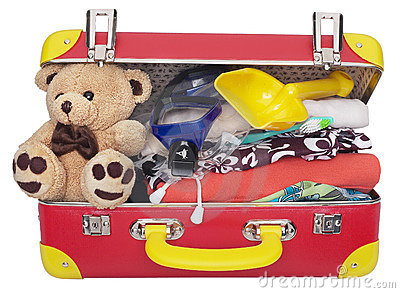 Packed Childrens Suitcase Royalty Free Stock Images - Image: 3446309