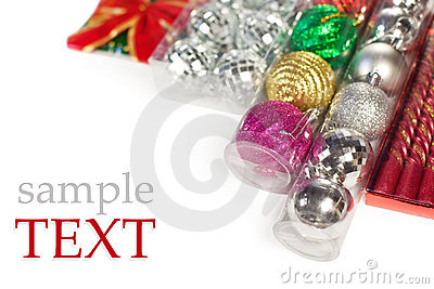 Packed Christmas ornament (with sample text)