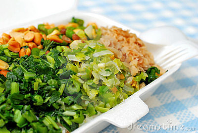 Packed meal with variety of vegetables