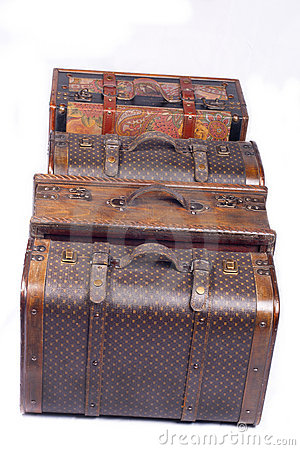 Packed suitcases
