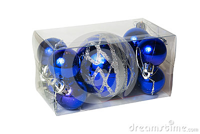 Packed in transparent plastic box Christmas balls