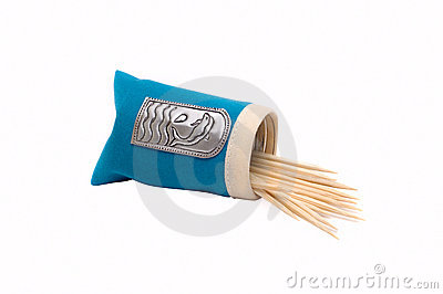Packet with toothpicks