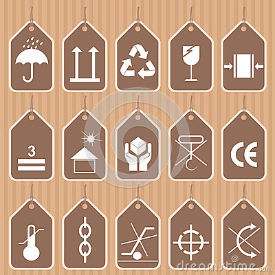 Packing and Shipping Symbols Vector Set