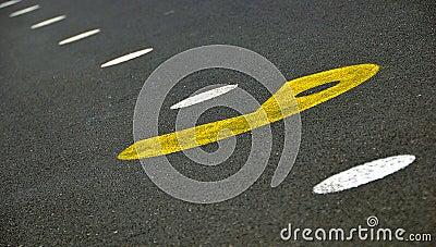 Pacman street stencil