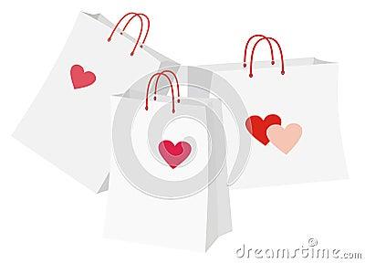 Pacotes com coração