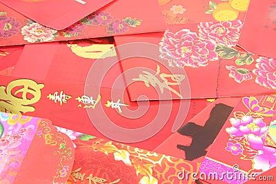Pacotes vermelhos chineses
