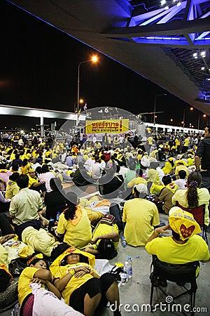 PAD Bangkok level 4 Editorial Stock Photo