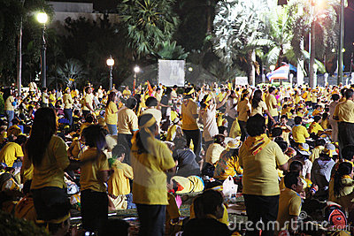 PAD protest Bangkok - Government House Editorial Stock Photo