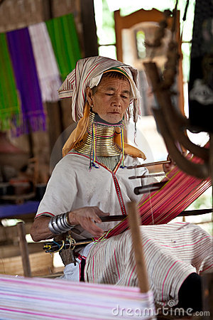 Padaung Tribe woman Editorial Image