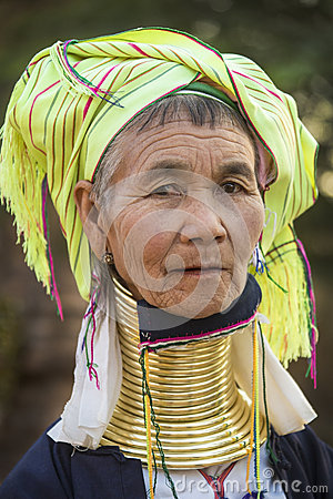 Padaung Woman - Myanmar (Burma) Editorial Image
