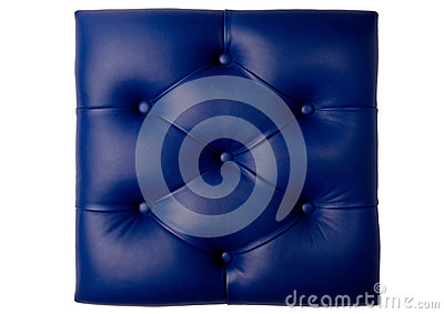 Padded blue leather board