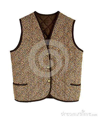 Padded waistcoat with button
