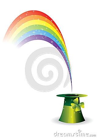 Paddies hat with rainbow