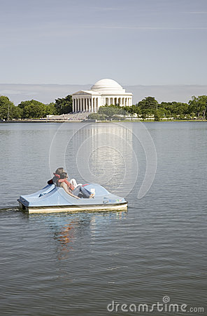 Paddle boat floating Editorial Photography