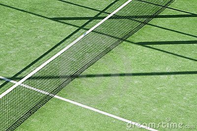 Paddle tennis green grass camp field texture