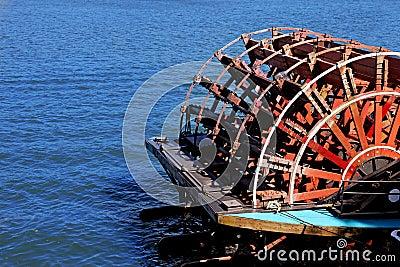 Paddle wheel on boat