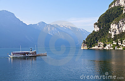 Paddle Wheel Boat on Lake Garda, Italy