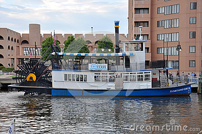 Paddle Wheel Boat in Norfolk, Virginia Editorial Photo