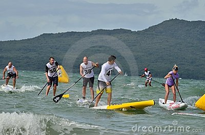 Paddleboard Race Editorial Stock Photo