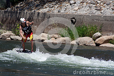 Paddleboarder Editorial Photography