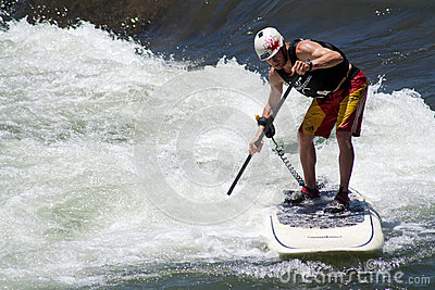 Paddleboarder Editorial Image