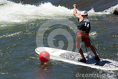 Paddleboarder Editorial Photo