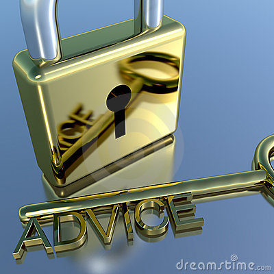 Padlock With Advice Key