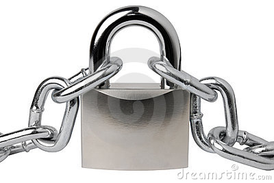 Padlock and a chain