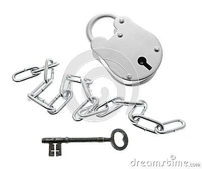 Padlock, Chain and Key