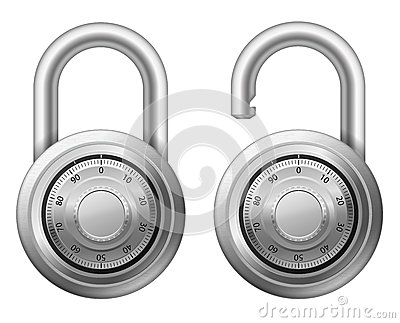 Padlock with combination lock wheel
