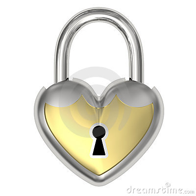 Padlock in the form of heart