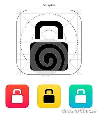 Padlock icon.