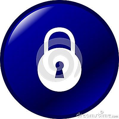 padlock or lock vector button