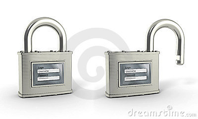 Padlock with login and password